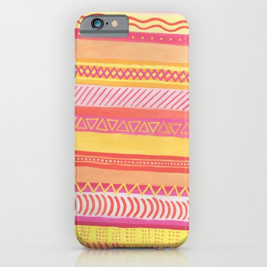 Tribal#1 (Orange/Pink/Yellow) iPhone & iPod Case