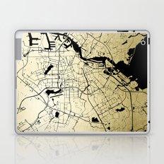 Amsterdam Gold on Black Street Map Laptop & iPad Skin