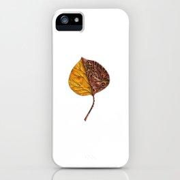Steampunk yellow leaf iPhone Case