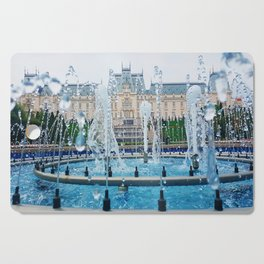 blue palace fountain Cutting Board