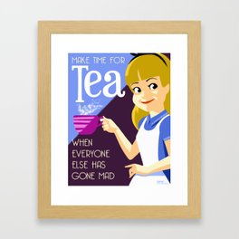 Make Time For Tea Framed Art Print