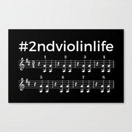 #2ndviolinlife (dark colors) Canvas Print