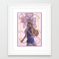 ace attorney Framed Art Prints featuring ace attorney- whips and nooses by Frauleinandry
