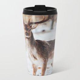 Rustic deer Metal Travel Mug