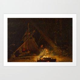 Camp Fire by Winslow Homer, 1880 Art Print