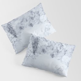 Snowy mountains and spruce forest Pillow Sham