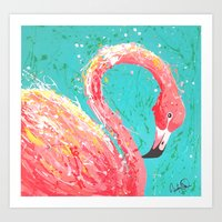 Flaunting Flamingo Art Print