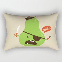 Pear-ate a.k.a The Angry Pirate Rectangular Pillow