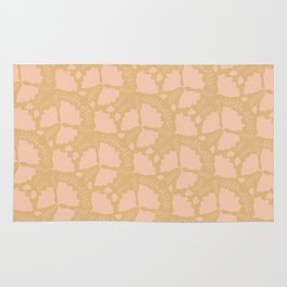 Golden papillon Rug