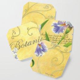 Purple and White Iris Coaster
