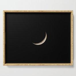 Waxing Crescent Moon Serving Tray