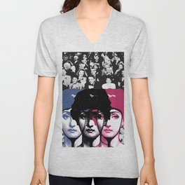 Woman, applause, laughter and vanity ... Unisex V-Neck