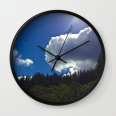 Sunny Clouds Wall Clock