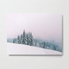 Angled Snow Metal Print