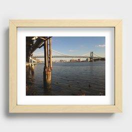 NYC East River | Manhattan Bridge Recessed Framed Print