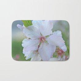 Almond tree flower blooming Bath Mat