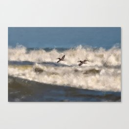 Between The Waves Canvas Print