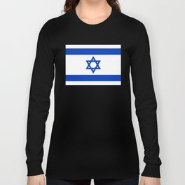 Flag of the State of Israel - High Quality Image Long Sleeve T-shirt