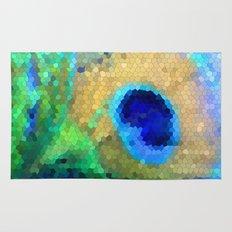 abstract peacock Rug