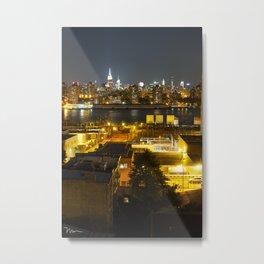 Brooklyn View of NYC Skyline (1) Metal Print