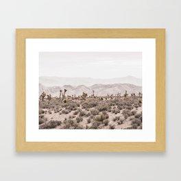 Sierra Nevada Mojave // Desert Landscape Blush Cactus Mountain Range Las Vegas Photography Framed Art Print
