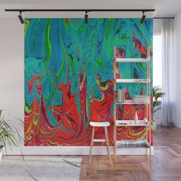Fire Vs Water Wall Mural