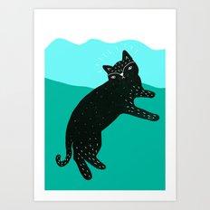 Cat Life 4 Art Print