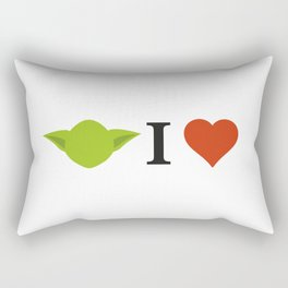 Yoda I Love Rectangular Pillow