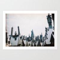 hogwarts Art Prints featuring Hogwarts by Thad Kopec