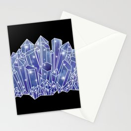 Blue/Purple Crystal Cluster Stationery Cards