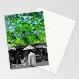 Blantyre flowered green  Stationery Cards