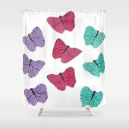mini butterflies Shower Curtain