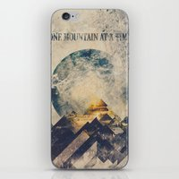anna iPhone & iPod Skins featuring One mountain at a time by HappyMelvin