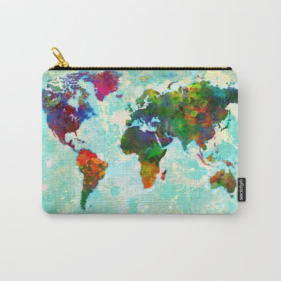 World Map - 1 Carry-All Pouch