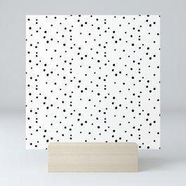 Dalmatian Polka Dots - White Black Mini Art Print