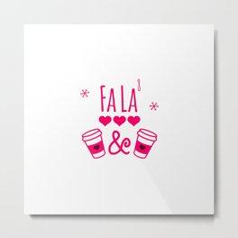 Fa La or FaLa8 Funny Christmas Math Equation Metal Print