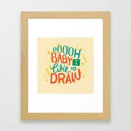 Shimmy Shimmy Framed Art Print