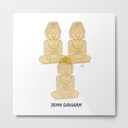 Zen Diagram Metal Print