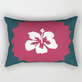 Illustration of a beautiful white flower Rectangular Pillow