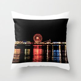 Carnival on the Water Throw Pillow