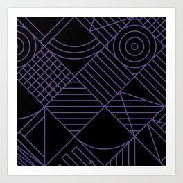 Violet Whackadoodle Art Print