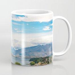 Cloudy summer day at Wanaka, New Zealand Coffee Mug