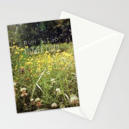 Run Wild, Flower Child Stationery Cards