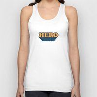 hero Tank Tops featuring Hero by Word Quirk