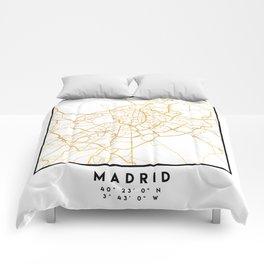MADRID SPAIN CITY STREET MAP ART Comforters