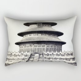 Sacred Temple of Heaven Where the Emperor Sacrifices Once a Year in the Chinese City of Pekin 1860 Rectangular Pillow