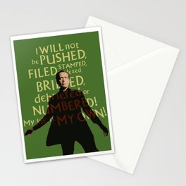 The Prisoner - I Will Not be Pushed Stationery Cards