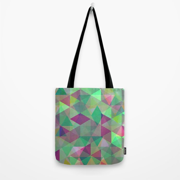 Pastel Triangles Pattern - Abstract, geometric, pastel coloured artwork Tote Bag