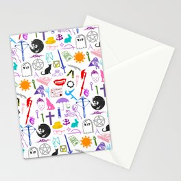 Buffy Symbology, Multi-color / Rainbow / PRIDE! Stationery Cards