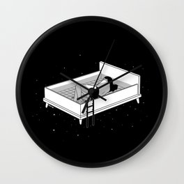 Bed for crying Wall Clock
